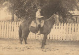 David Scott King of Mount Pleasant, Alabama, on horseback as a young boy.