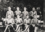 Group of young men, including Frank M. Moseley, in their military school uniforms.