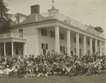 Group of men, women, and children at Mount Vernon in Virginia.