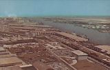 """Alabama State Docks at Mobile, Alabama as seen from top of 1st National Bank Building in..."