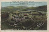 """Aeroplane View of Borden-Wheeler Springs Hotel and Summer Cottage Colony, Borden Springs,..."