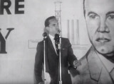George Wallace speaking at a rally in Mobile, Alabama, during the 1958 guberatorial campaign.