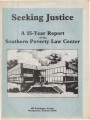 Seeking Justice: A 15-Year Report of the Southern Poverty Law Center.