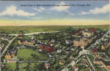 Aerial view of State Teachers College, founded 1855, Florence, Alabama