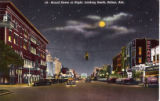 Broad Street At Night, Looking South, Selma, Alabama