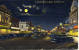 Broad Street at Night, Gadsden, Alabama