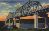 Clement C. Clay Bridge over Tennessee River near Huntsville, Alabama.