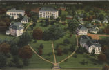 Aerial view of Howard College, Birmingham, Alabama