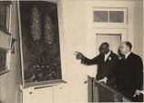 George Washington Carver and painting of Yucca plant