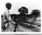 Japanese-American Guarding German POWs, Barbour County, Alabama