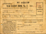 War Ration Book from World War II