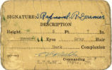 Pass issued to Raymond Grenier while serving at Camp Sibert in Etowah County, Alabama.