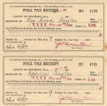 Poll tax receipts issued to Rosa Boyles and her daughter, Apcella, in Jefferson County, Alabama.
