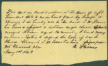 Receipt for the purchase of a slave by J. W. Shomo in Mount Pleasant, Alabama.
