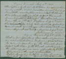 Record from the Pisgah Presbyterian Church in Cahaba, Alabama, noting the baptism of several slave...