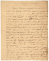 Letter from Thomas Vaughn at St. Stephens, Alabama, to General Ferdinand Claiborne in Alabama.