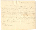 Contract for J. Miller, a freedman, who will be working a year for William Bonnell Hall of Benton,...