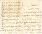 Letter from H. M. Larey in Hayneville, Alabama, to his cousin, Ann Louis, in South Carolina.
