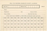 Blank poll tax record for males in Randolph County, Alabama.