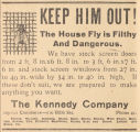 Advertisement for screen windows and doors from the Kennedy Company in Montgomery, Alabama.