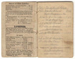 Account book of Alexander Jackson Bragg, an architect in Mobile, Alabama.