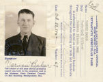 Interstate vehicular pass for Vernon Baker, a custodial officer at a federal prison camp.