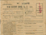 Ration book issued to Danny Sheffield in Brundidge, Alabama, during World War II.