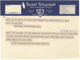 Telegrams between Senator Hiram Bingham of Connecticut, and Governor Benjamin Miller in...
