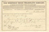 Telegram from R. Starkweather, a teacher in Stevenson, Alabama, to General Crawford.