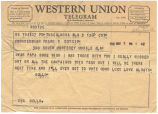 Telegram from Ocllo Smith to Frank W. Boykin.