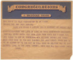 Telegram from Frank W. Boykin to Bob and Jack Boykin.