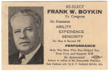 """Re-elect Frank W. Boykin to Congress."""