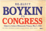 """Re-elect Boykin to Congress."""