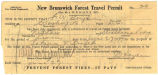 New Brunswick forest travel permit.