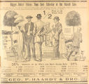 Advertisement for a clothing sale at Geo. P. Haardt & Bro. in Montgomery, Alabama.