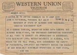 Telegrams between H. Vance Greenslip, president of the Southern Greyhound Lines in Chamblee,...