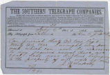 Telegram from J. W. Lapsley in Selma, Alabama, to Colin J. McRae.