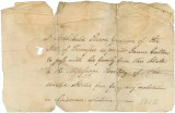 Pass granted by Governor Archibald Roane of Tennessee, allowing James Caller and his family to...