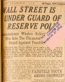 """Wall Street Is Under Guard of Reserve Police."""