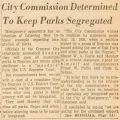 """City Commission Determined to Keep Parks Segregated."""