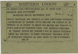 Telegram from Reverend Fred Shuttlesworth in Birmingham, Alabama, to Governor John Patterson in...