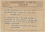 Telegram from Kenneth Adams, the Alabama Grand Dragon of the Dixie Klans, Inc., to Governor John...