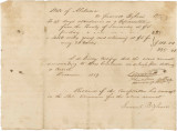 Voucher for money owed to Samuel Bigham of Lawrence County, for his service in the Alabama House...