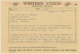 Telegram from Governor George C. Wallace to Leon Waite, manager of the Ramada Inn Motel in Mobile,...