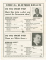 Flier listing votes cast for Albert Brewer and George Wallace in Jefferson County during the...