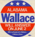 """Wallace"" sticker issued before the Democratic primary runoff during the 1970..."