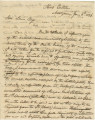 Letter from Governor Clement C. Clay in Montgomery, Alabama, to Secretary of War Lewis Cass.