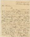 Letter from Governor Clement C. Clay in Tuscaloosa, Alabama, to Colonel John Currie.