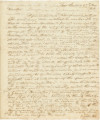 Letter from Harry Toulmin at Fort Stoddert in Mobile County, Alabama, to U.S. Secretary of War...