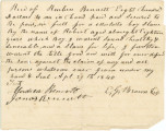 Bill of sale for a slave bought by Reuben Bennett from E. G. Brown.